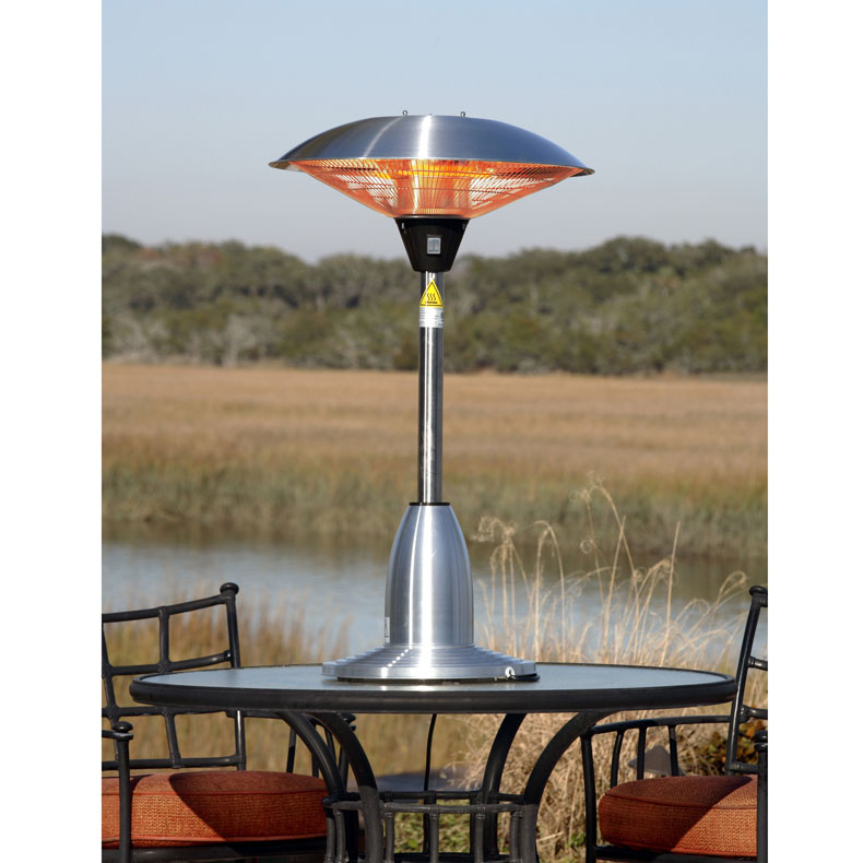 Image of Stainless Steel Table Top Round Halogen Patio Heater Stainless Steel Table Top Round Halogen Patio Heater