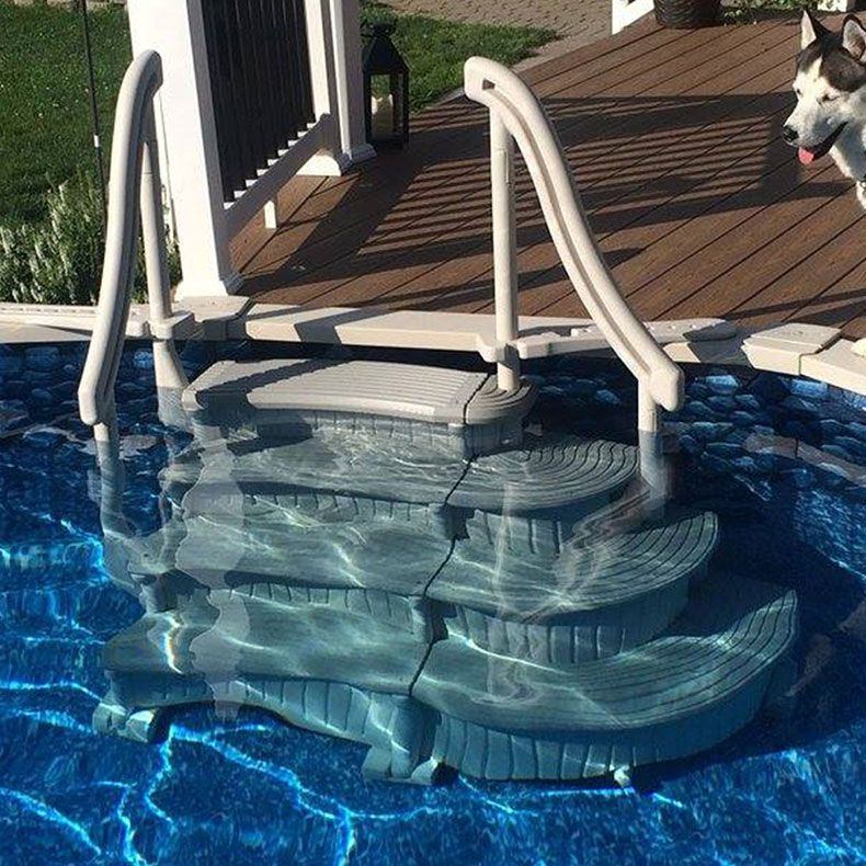 Confer Curve Above Ground Pool Steps For Sale Doheny S Pool Supplies Fast