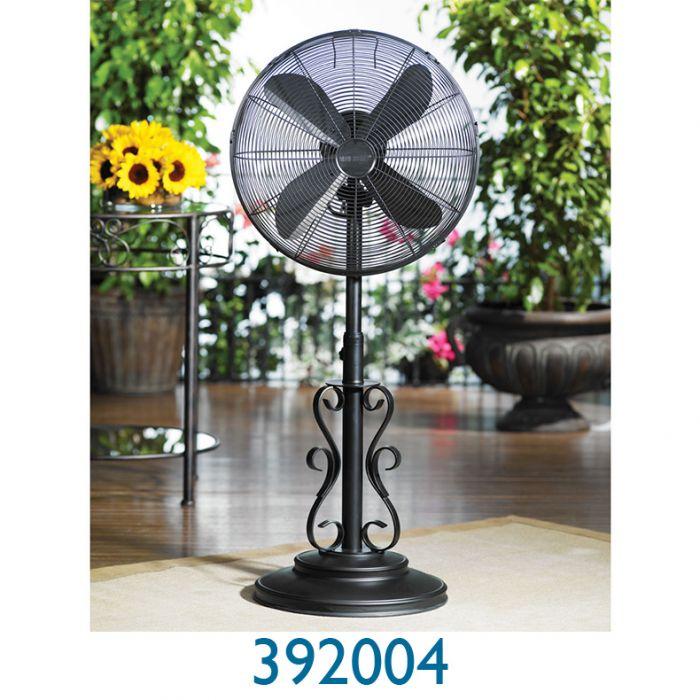 Decobreeze 18 In Deco Adjustable Outdoor Standing Fan Ebony Doheny S Pool Supplies Fast