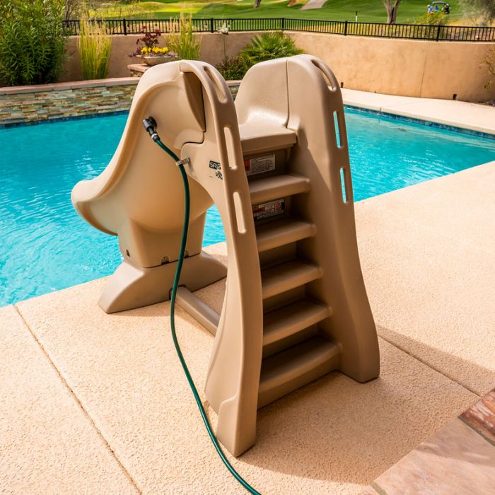 Sr Smith Slideaway Removable Pool Slide Taupe Doheny S Pool Supplies Fast