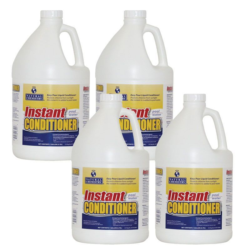 Natural Chemistry Instant Pool Water Conditioner 4 Gal
