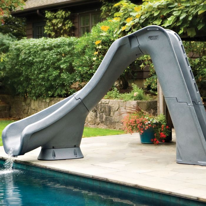 Sr Smith Typhoon Pool Slide Left Turn, Portable Water Slide For Inground Pool