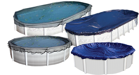 Doheny's Above Ground Winter Pool Covers and Leaf Net Pool Covers